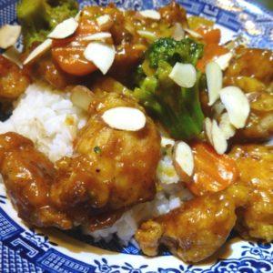 Orange Chicken with Rice - Homemade Hoisin Sauce - Chinese Dinner Menu Ideas