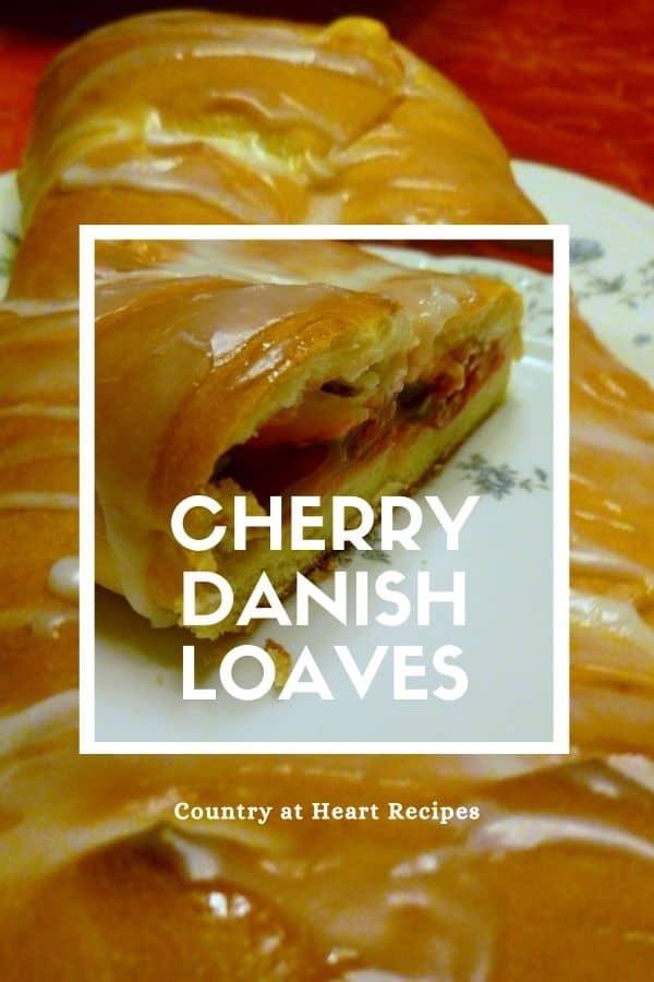 Pinterest Pin - Cherry Danish Loaves