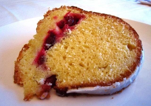 Cranberry Pound Cake with Almonds