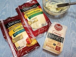Cheese Selections for the Sandwiches