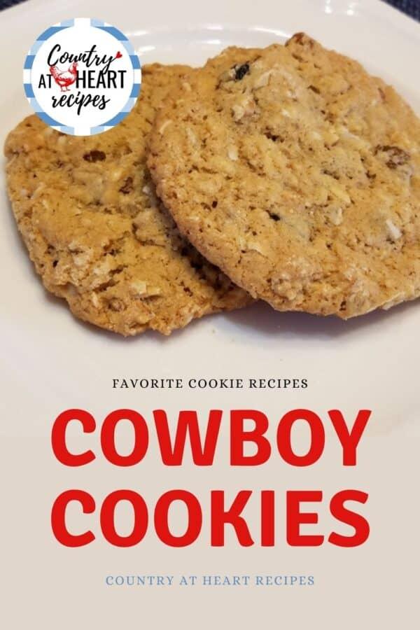 Pinterest Pin - Cowboy Cookies