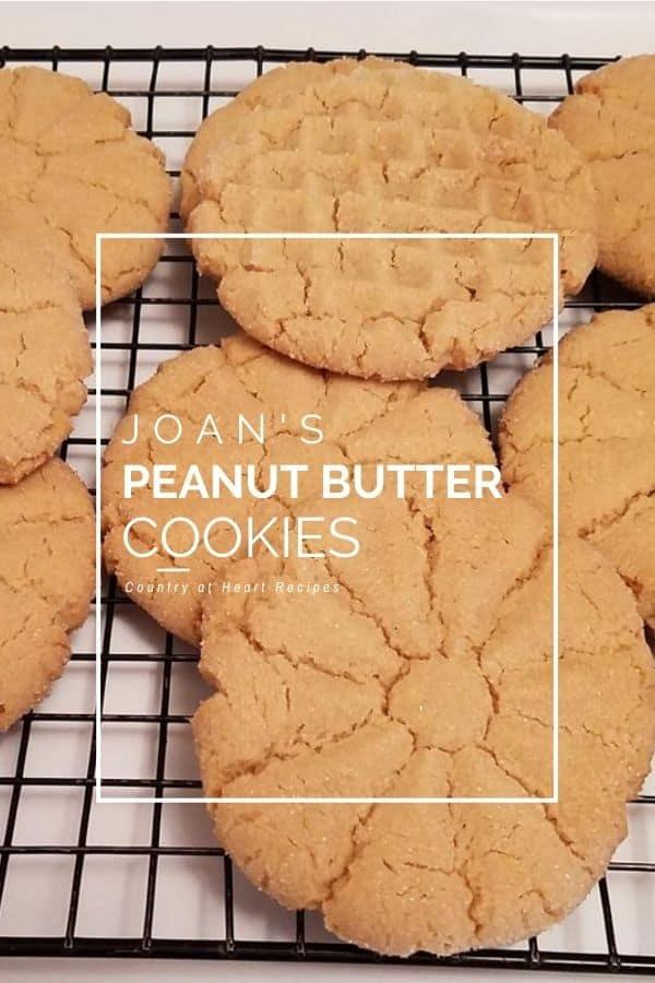 Pinterest Pin - Joan's Peanut Butter Cookies