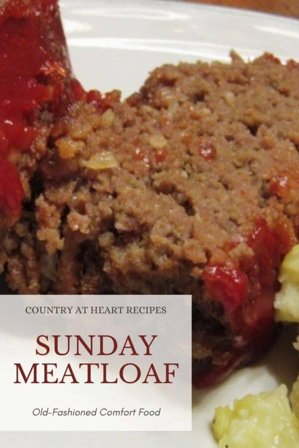 Pinterest Pin - Sunday Meatloaf