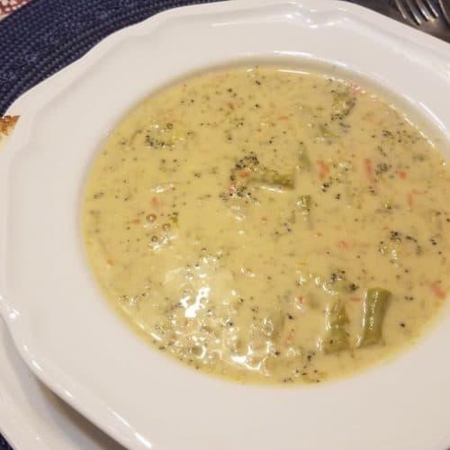 Recipe for Broccoli Cheese Soup