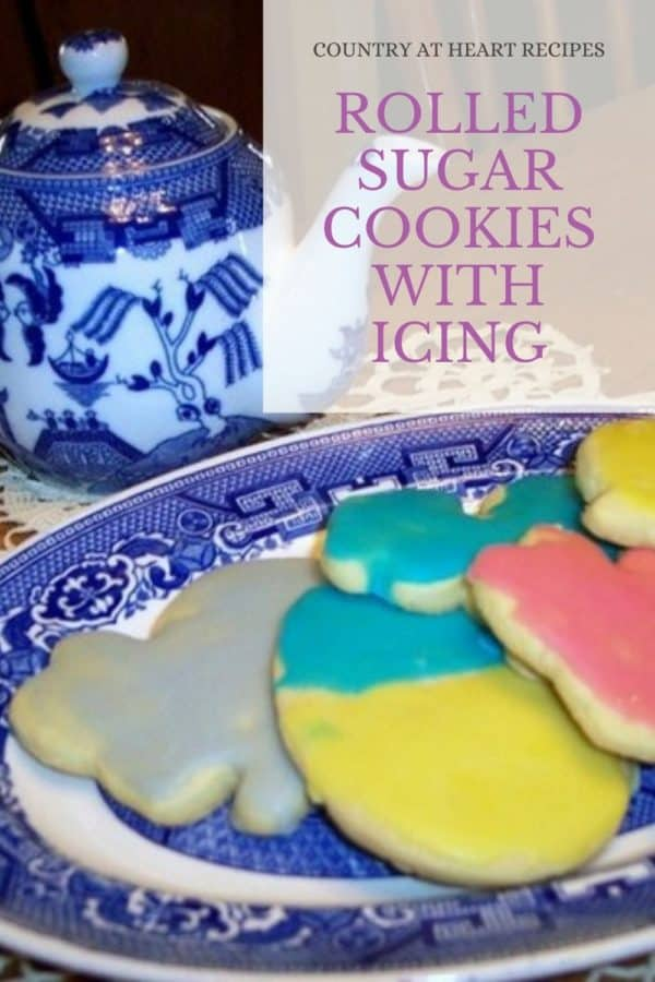 Pinterest Pin - Rolled Sugar Cookies with Icing