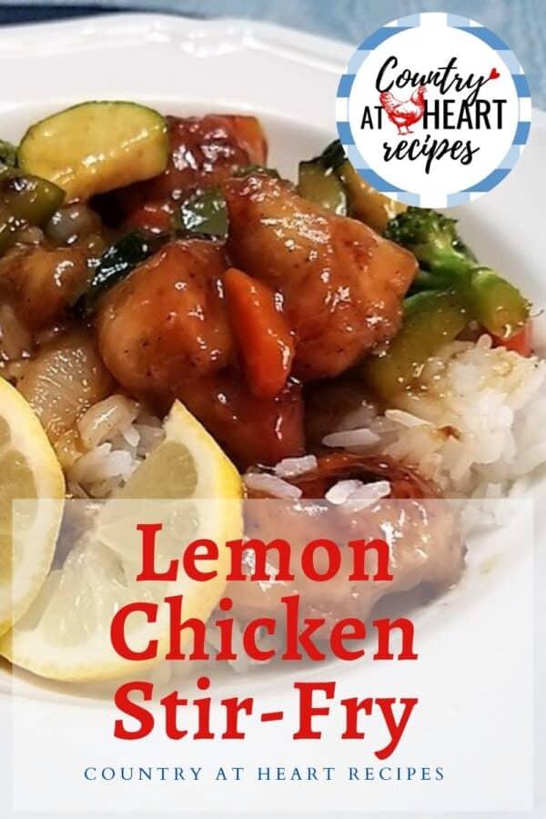 Pinterest Pin - Lemon Chicken Stir-Fry