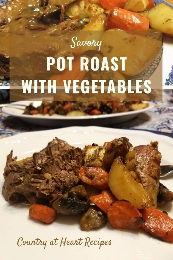 Pinterest Pin - Savory Pot Roast with Vegetables