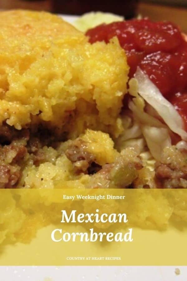 Pinterest Pin - Mexican Cornbread