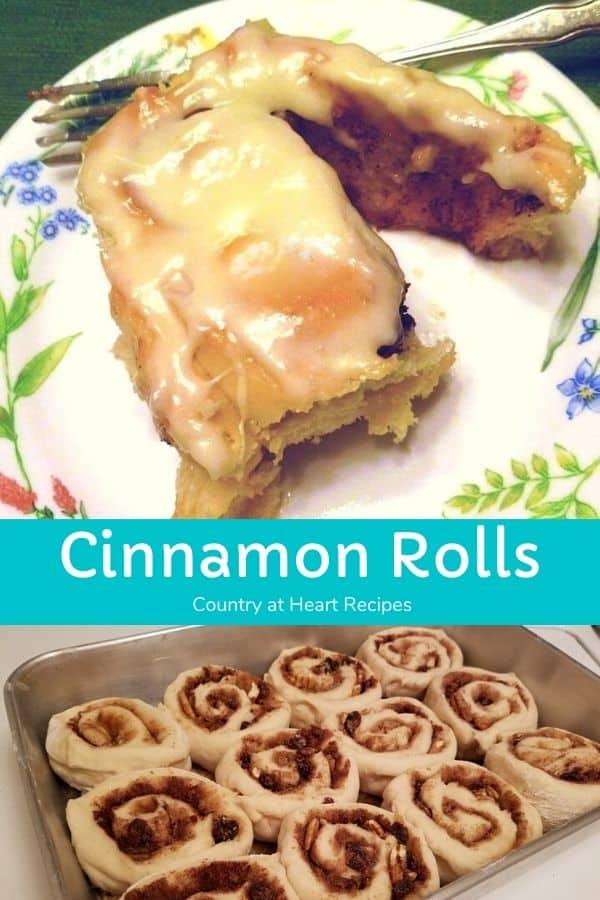 Pinterest Pin - Raisin Pecan Cinnamon Rolls
