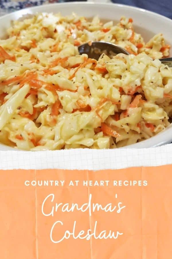 pinterest post grandma's coleslaw