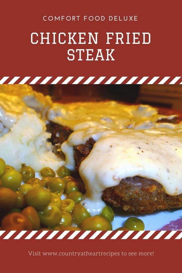 Pinterest Pin Chicken Fried Steak