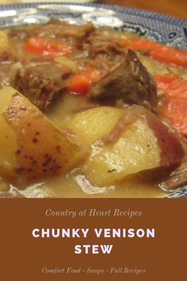 Pinterest Pin - Chunky Venison Stew