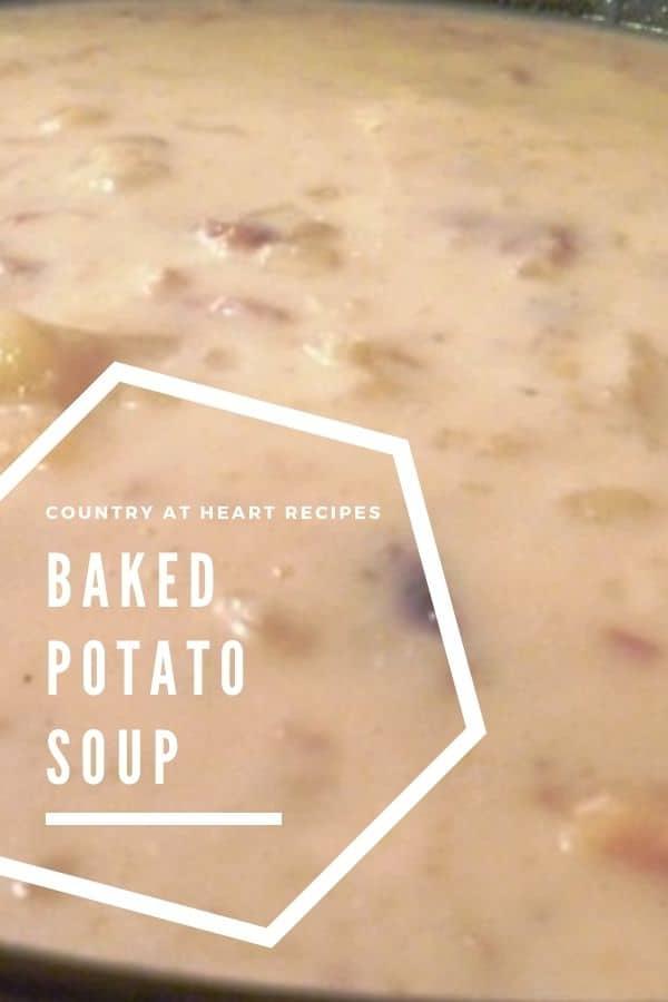 Pinterest Pin - Easy Baked Potato Soup