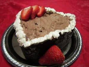 Recipe for Valentine Chocolate Mousse with Strawberries