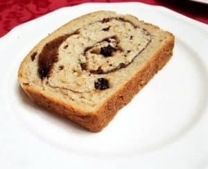 Sliced Sourdough Cinnamon-Swirl Raisin Bread