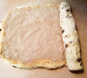 Shaping the Cinnamon Bread