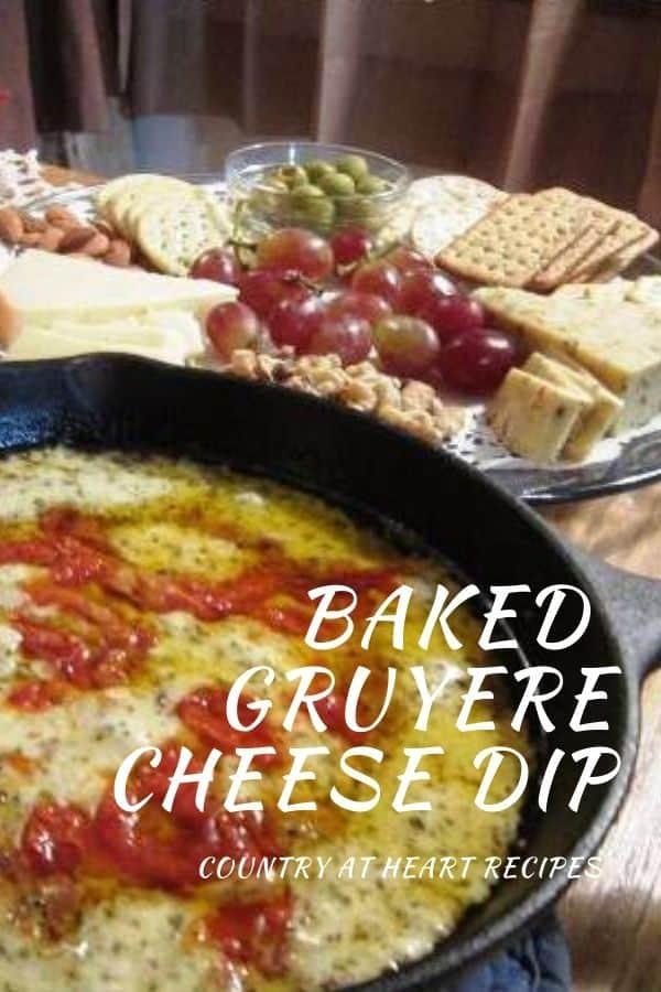 Pinterest PIn - Baked Gruyere Cheese Dip