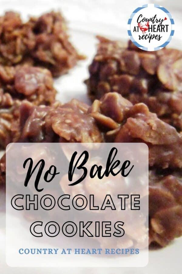 Pinterest Pin - No-Bake Chocolate Cookies