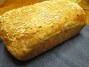 Harvest Grain Loaf before Cutting