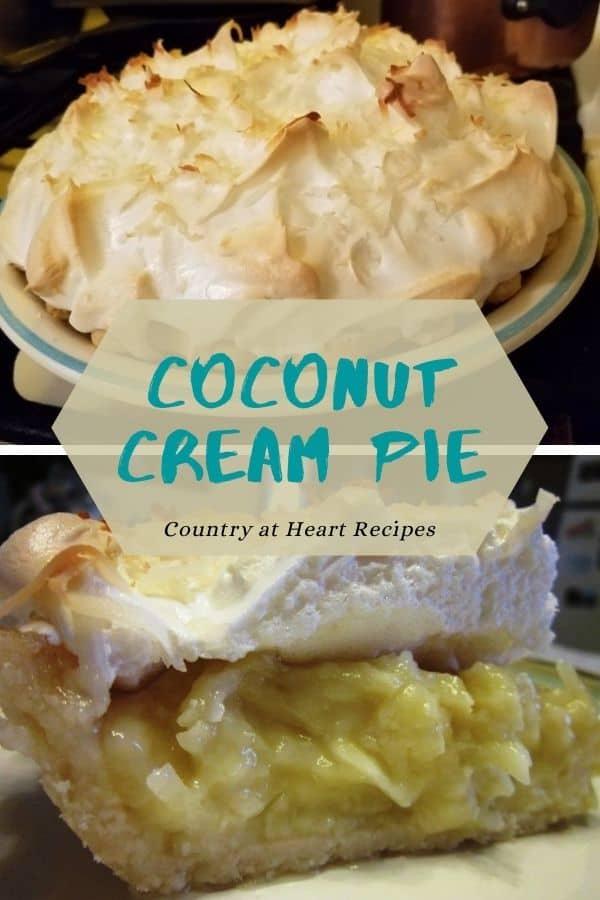 Pinterest Pin - Coconut Cream Pie