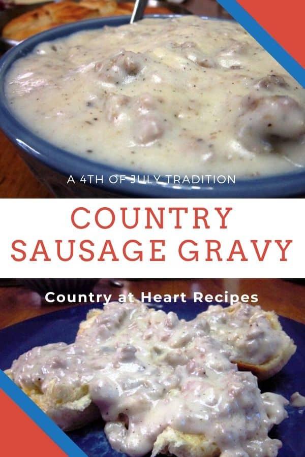 Pinterest Pin - Country Sausage Gravy