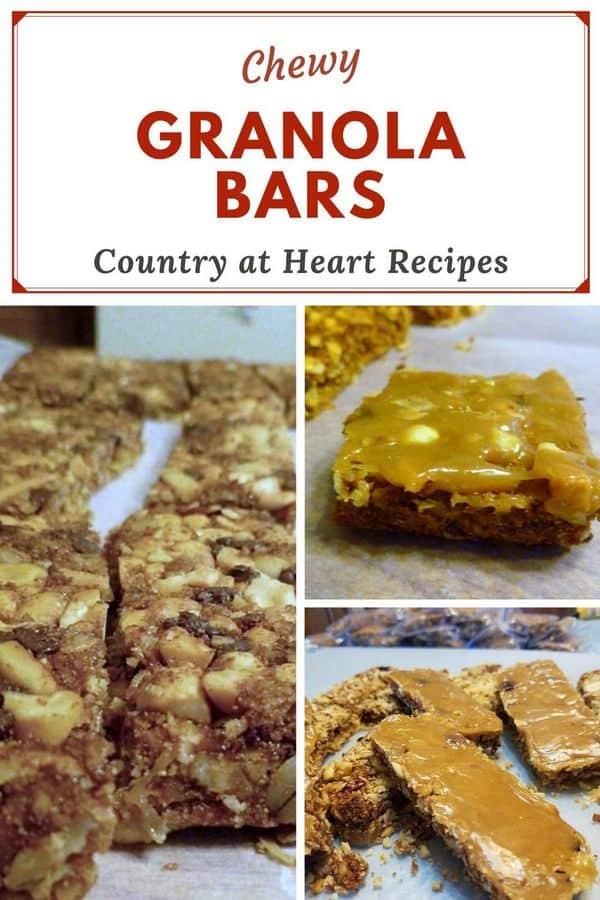 Pinterest Pin - Chewy Granola Bars