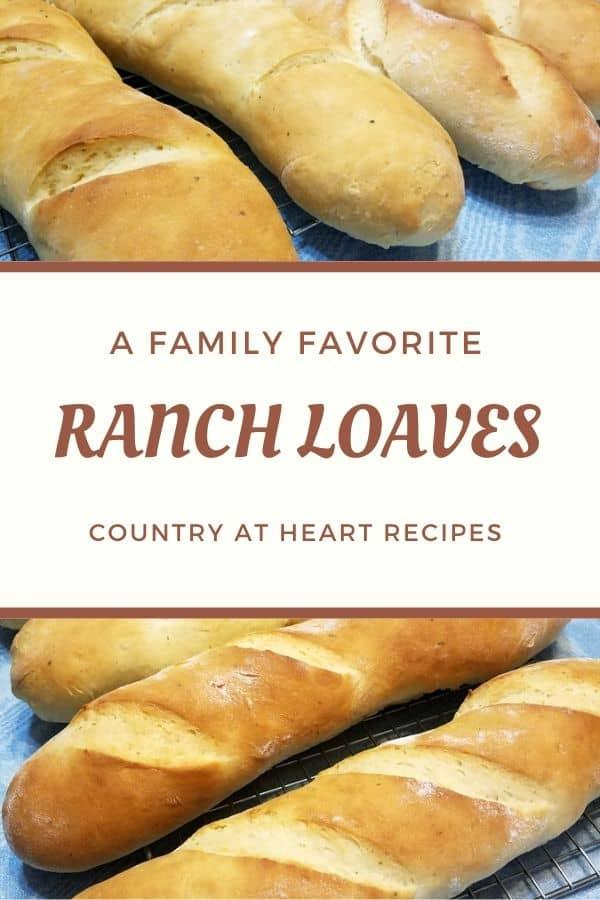 pinterest pin - ranch loaves