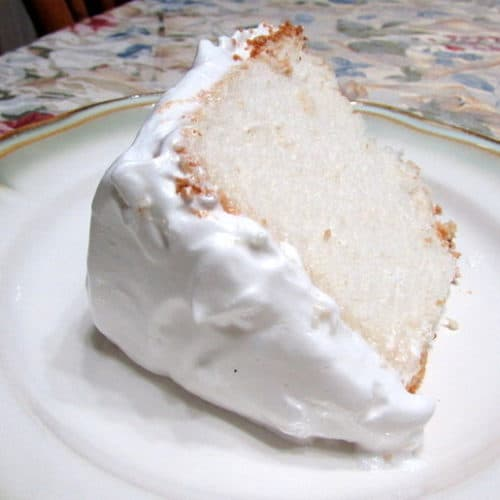 Recipe for Angel Food Cake with 7-Minute Frosting