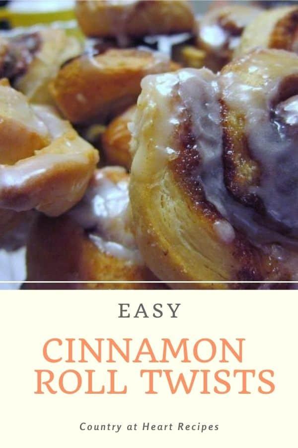 Pinterest Pin - Easy Cinnamon Roll Twists