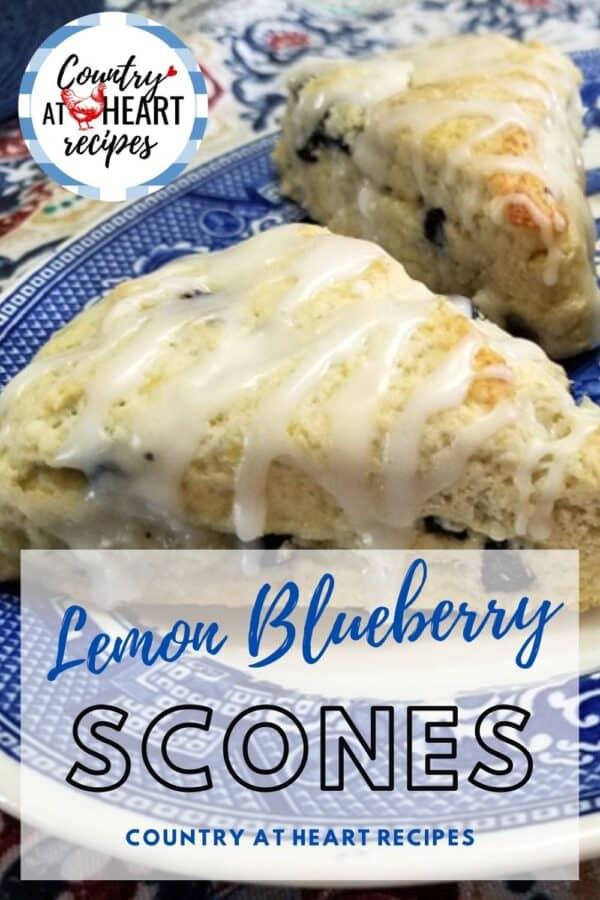 Pinterest Pin - Lemon Blueberry Scones