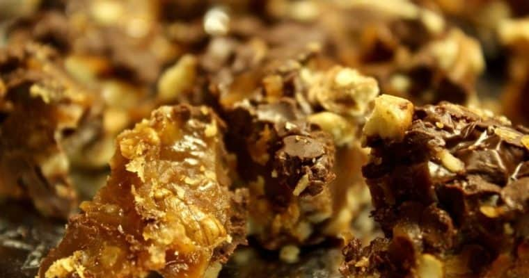Easy Chocolate Covered Toffee