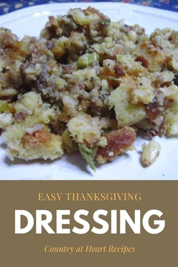 Pinterest Pin - Easy Thanksgiving Dressing