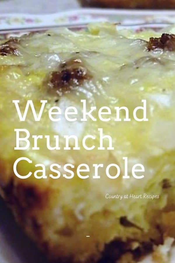 Pinterest Pin - Weekend Brunch Casserole