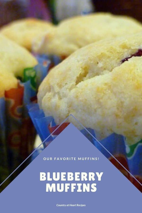 Pinterest Pin - Blueberry Muffins