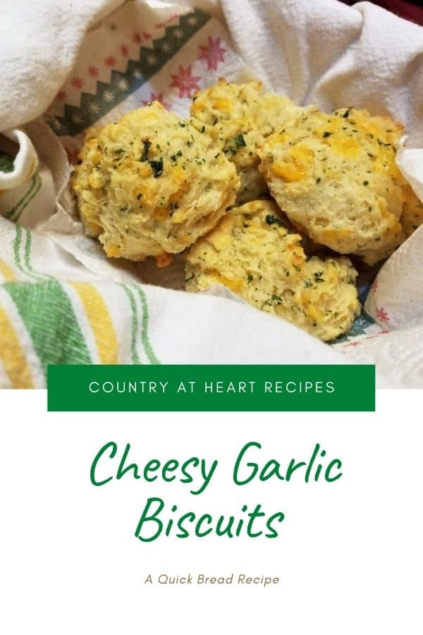 Pinterest Pin - Cheesy Garlic Biscuits