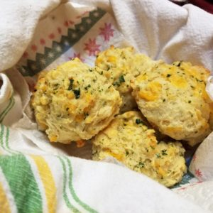 Recipe for Cheesy Garlic Biscuits