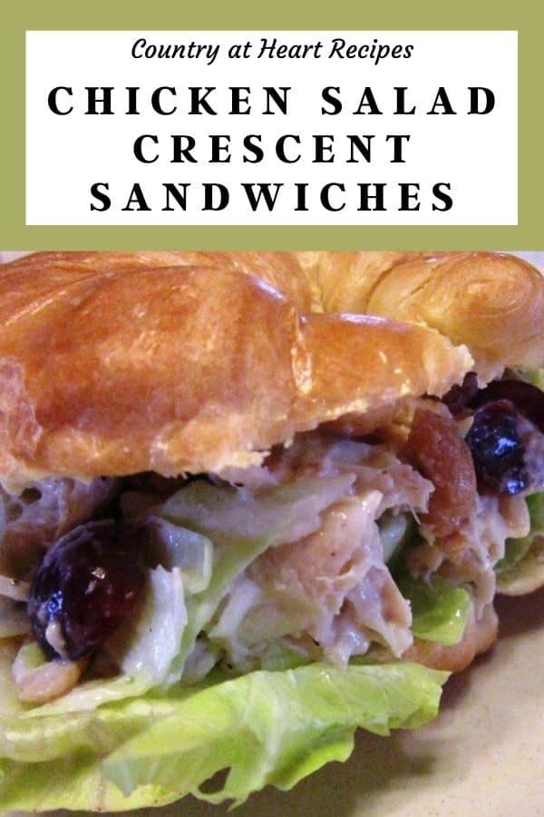 Pinterest Pin Chicken Salad Crescent Sandwiches