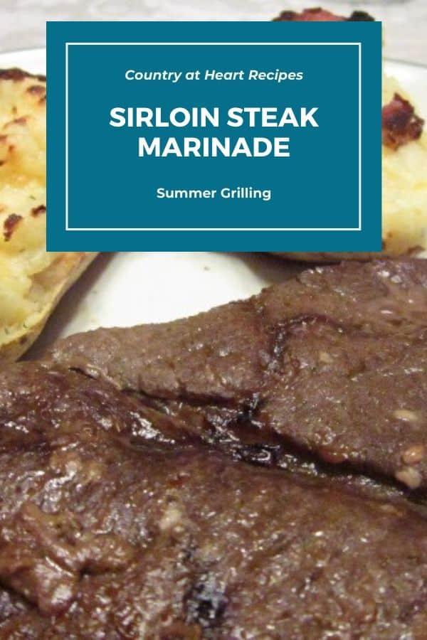 Pinterest Pin - Sirloin Steak Marinade