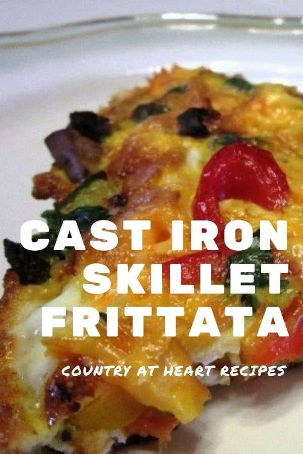 Pinterest pin - Cast Iron Skillet Frittata