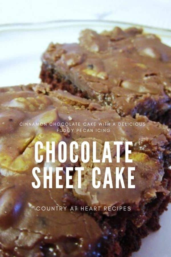 Pinterest Pin - Chocolate Sheet Cake