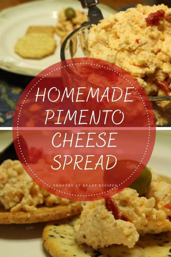 Pinterest Pin - Homemade Pimento Cheese Spread