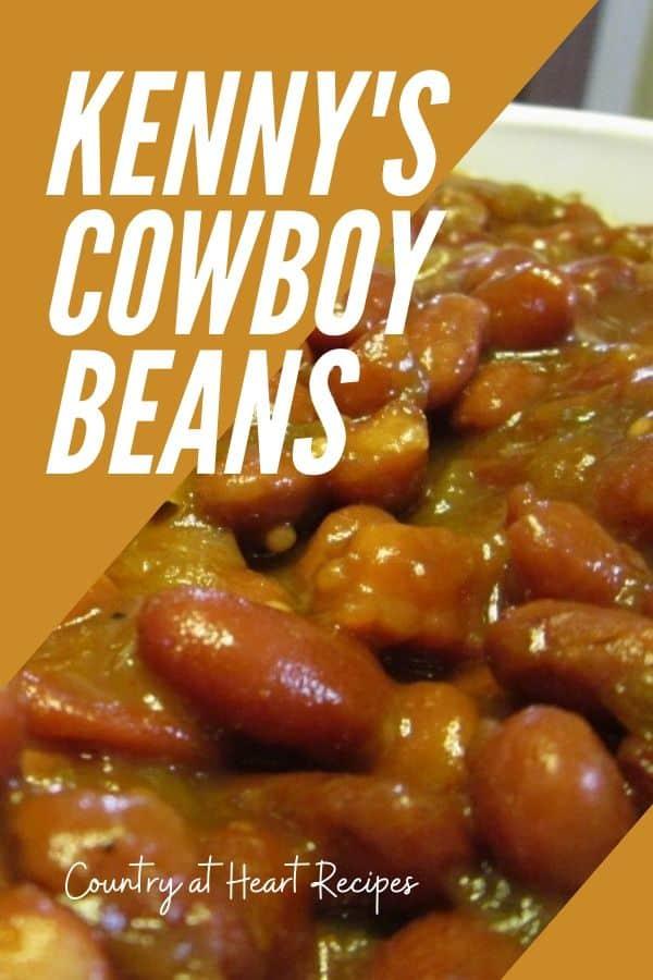 Pinterest Pin - Kenny's Cowboy Beans