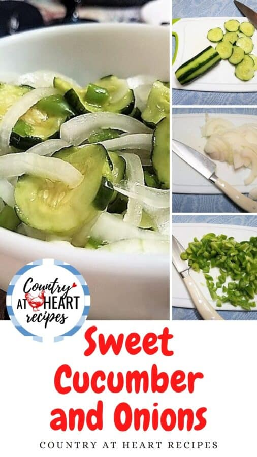 Pinterest Pin - Sweet Cucumbers and Onions