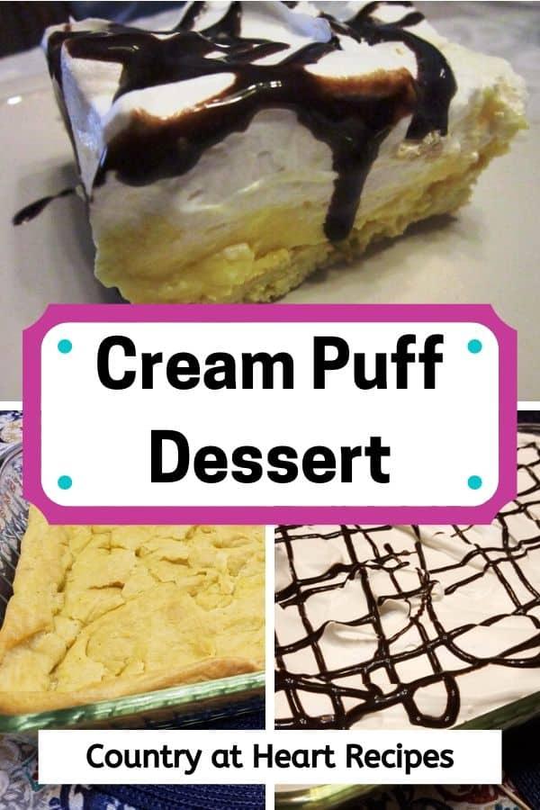 Pinterest Pin Cream Puff Dessert