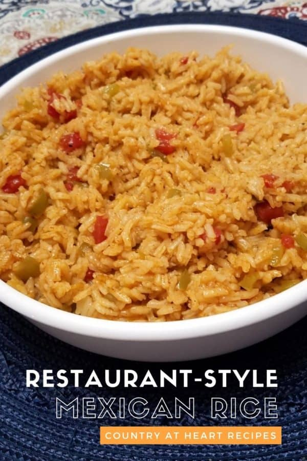 Pinterest Pin - Restaurant-Style Mexican Rice