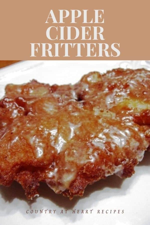 Pinterest Pin - Apple Cider Fritters