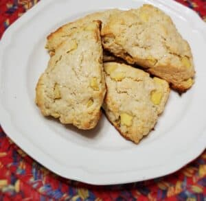 Apple Scones without Sugar Topping