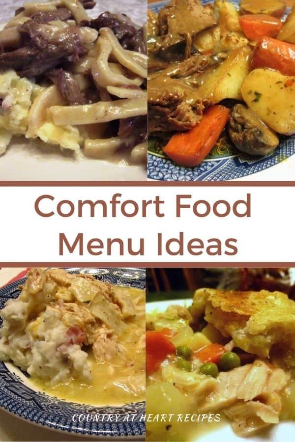 Pinterest Pin - Comfort Food Menu Ideas