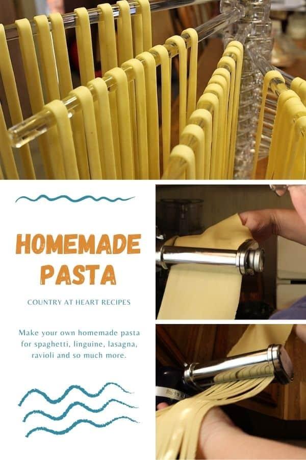 Pinterest pin - Homemade Pasta