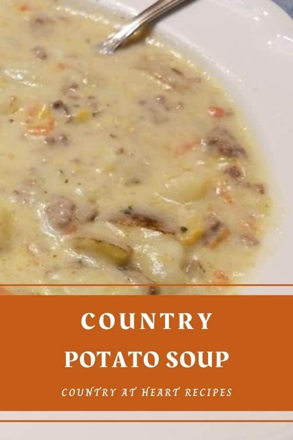 Pinterest Pin - Country Potato Soup